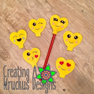 Emotion Heart Pencil Topper