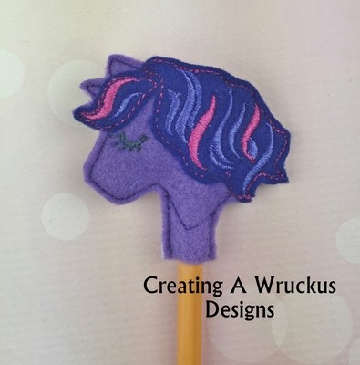 Unicorn Multi Colored Mane Pencil Topper