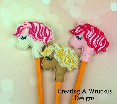Pony Single Colored Mane Pencil Topper