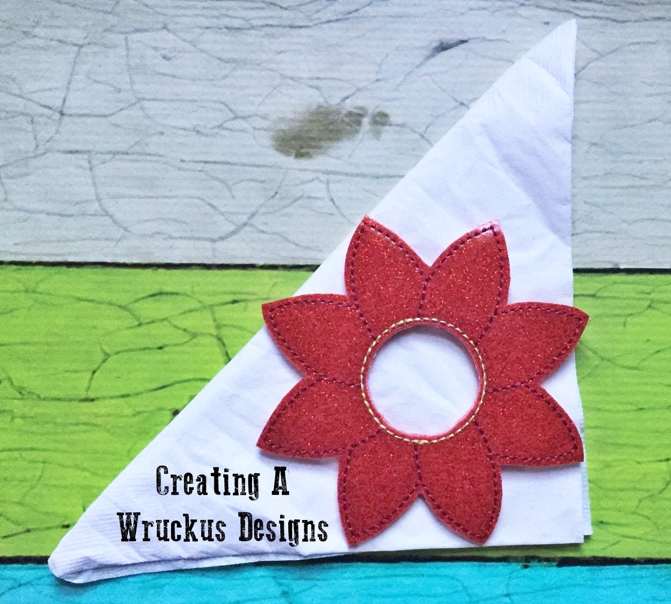 Poinsetta Napkin Ring