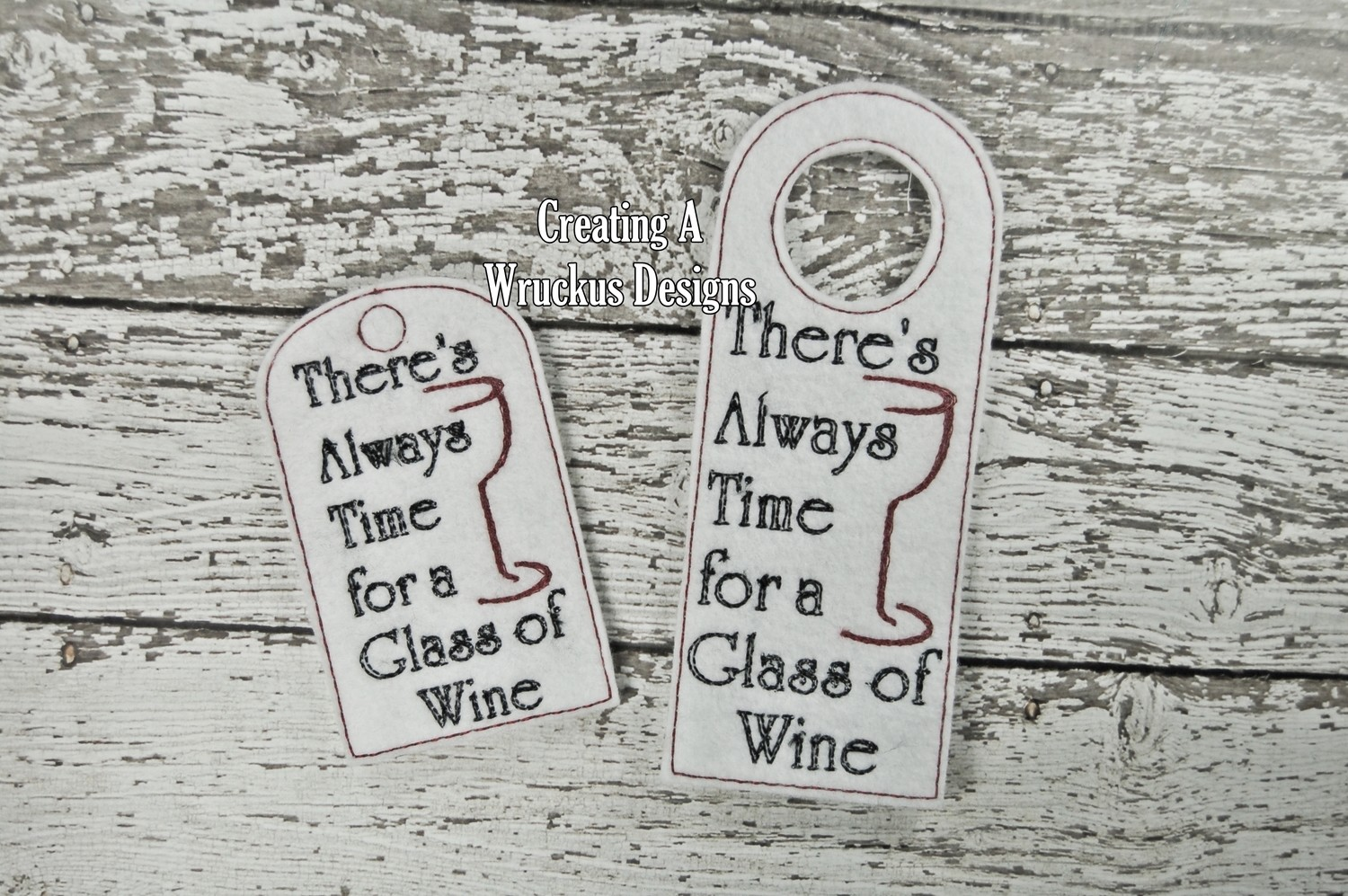 There's Always Time Wine Tag