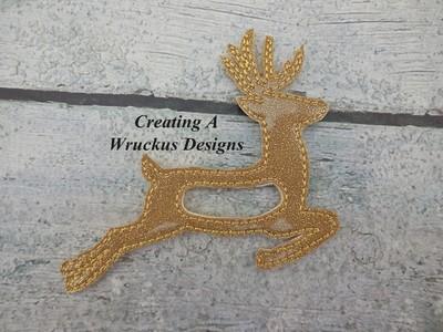 Bounding Deer Napkin Ring