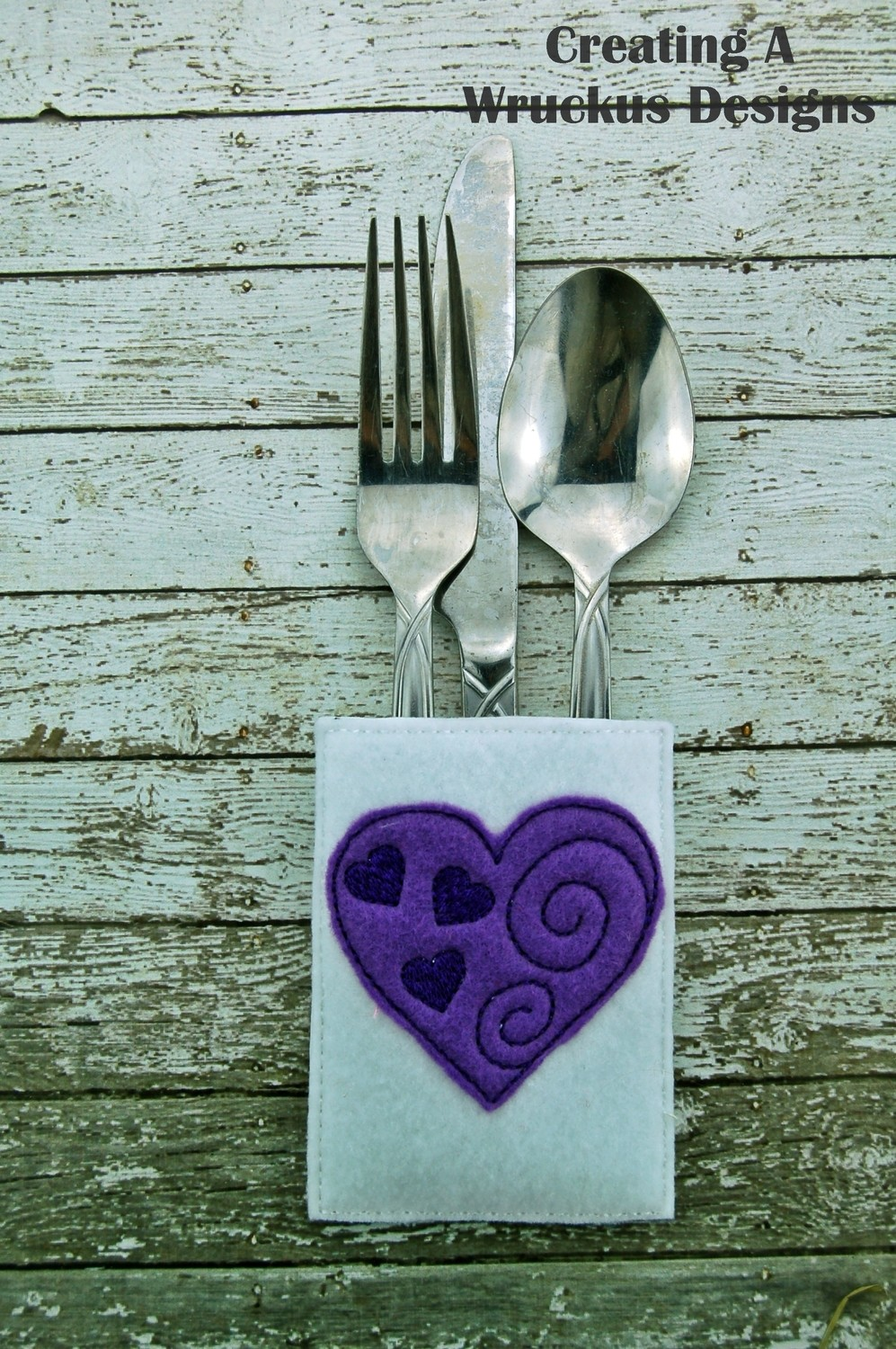 Heart Silverware Pocket One