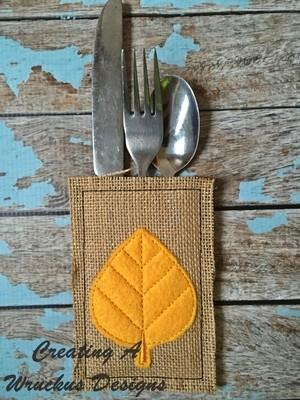 Fall Silverware Pockets