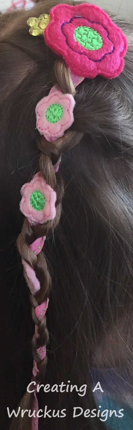 Braid-In Flower #1 Feltie