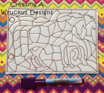 Horse Coloring Puzzle
