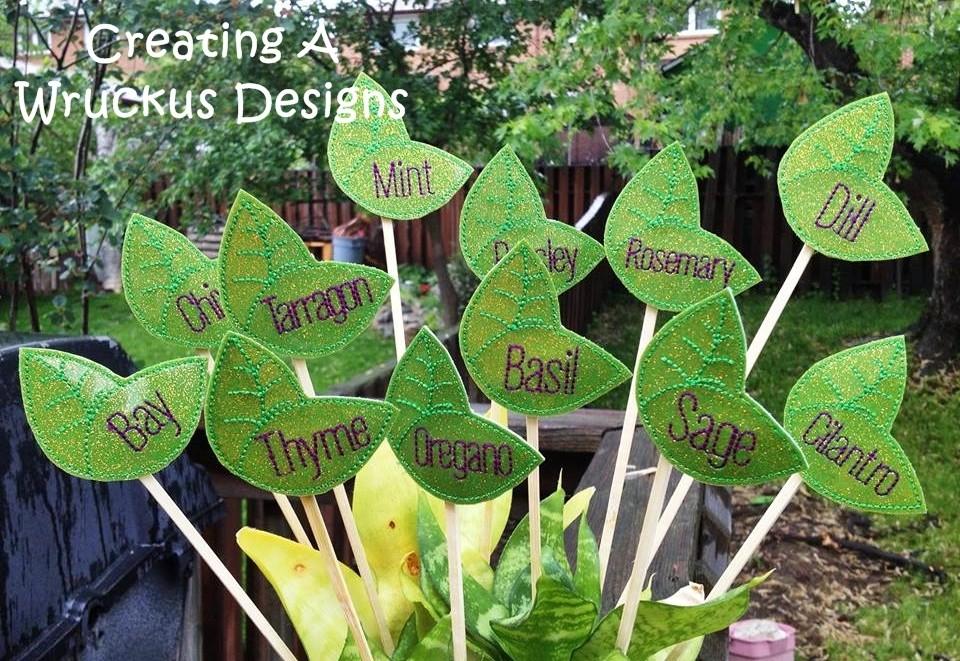 Leaf Herb Garden Markers