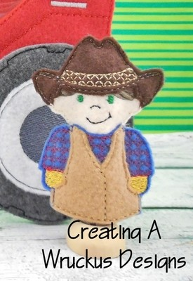Farmer Boy Finger Puppet