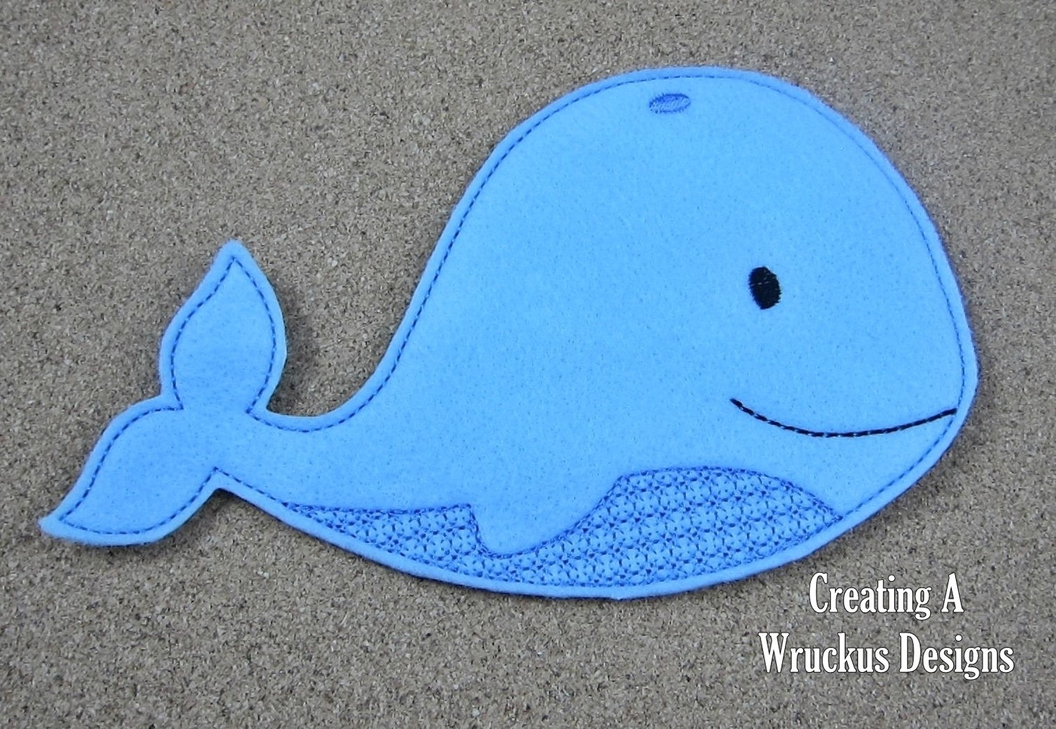 W is for Whale Super Sized Feltie