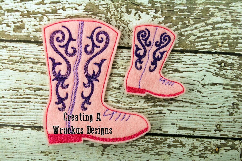 Cowboy Boot Feltie