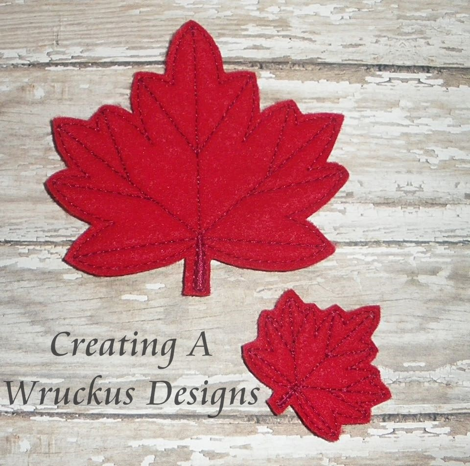 Maple Leaf Feltie - 4x4 Oversized Included