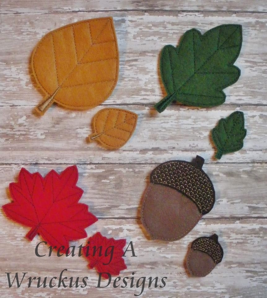 Fall Leaves Set - 4x4 Oversized Included