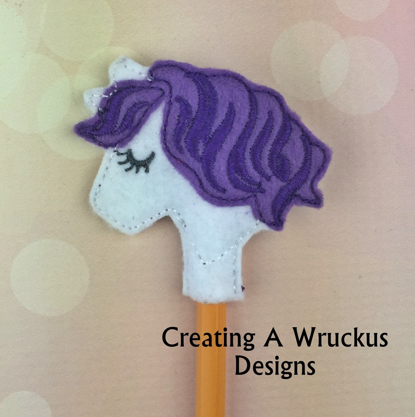 Unicorn Single Colored Mane Pencil Topper