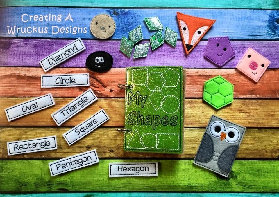 Shape Animals Matching Book