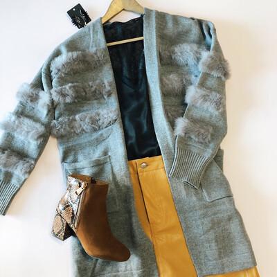 Grey Fur Cardi