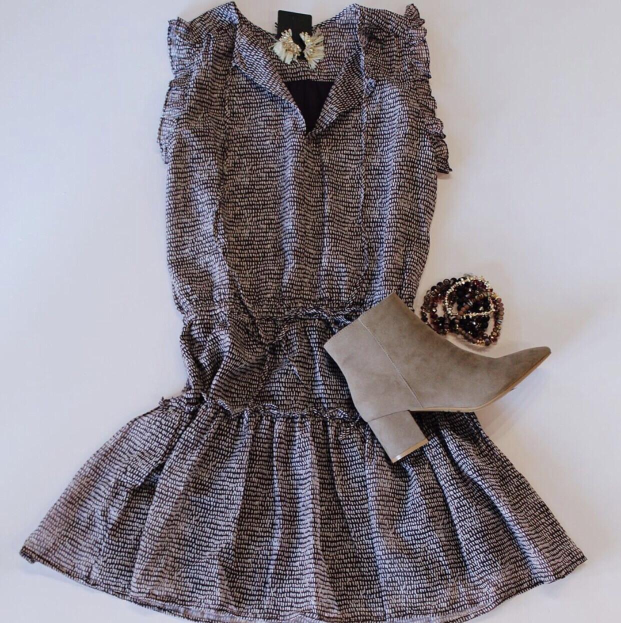 Maroon Pleated Dress
