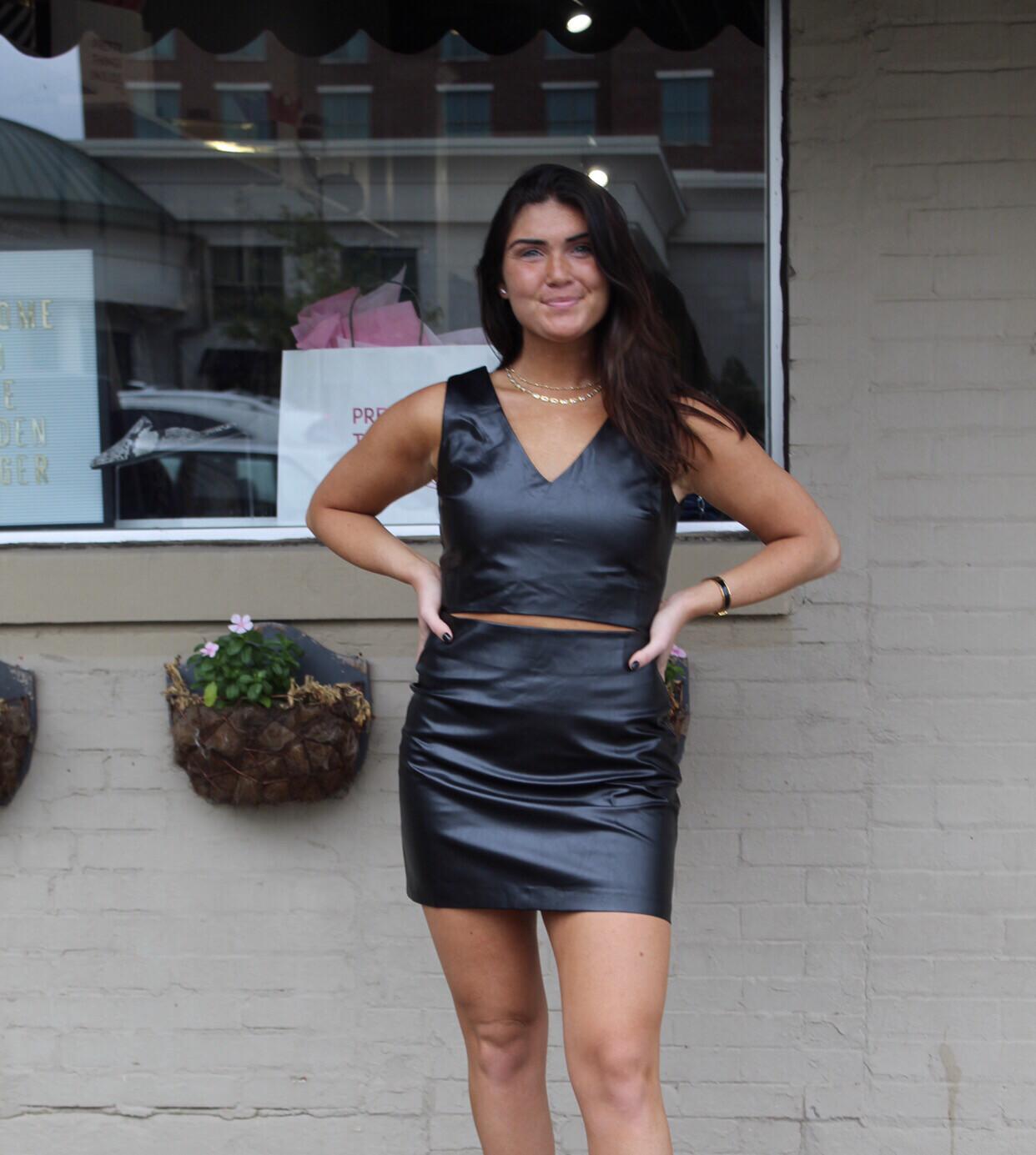 Buddy Love Leather Cutout Dress