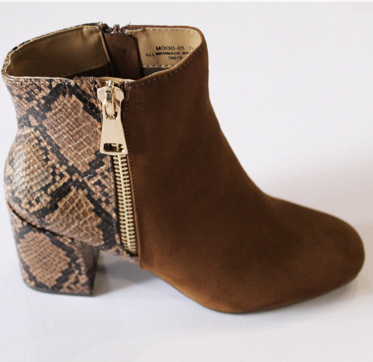 Camel Snake Bootie