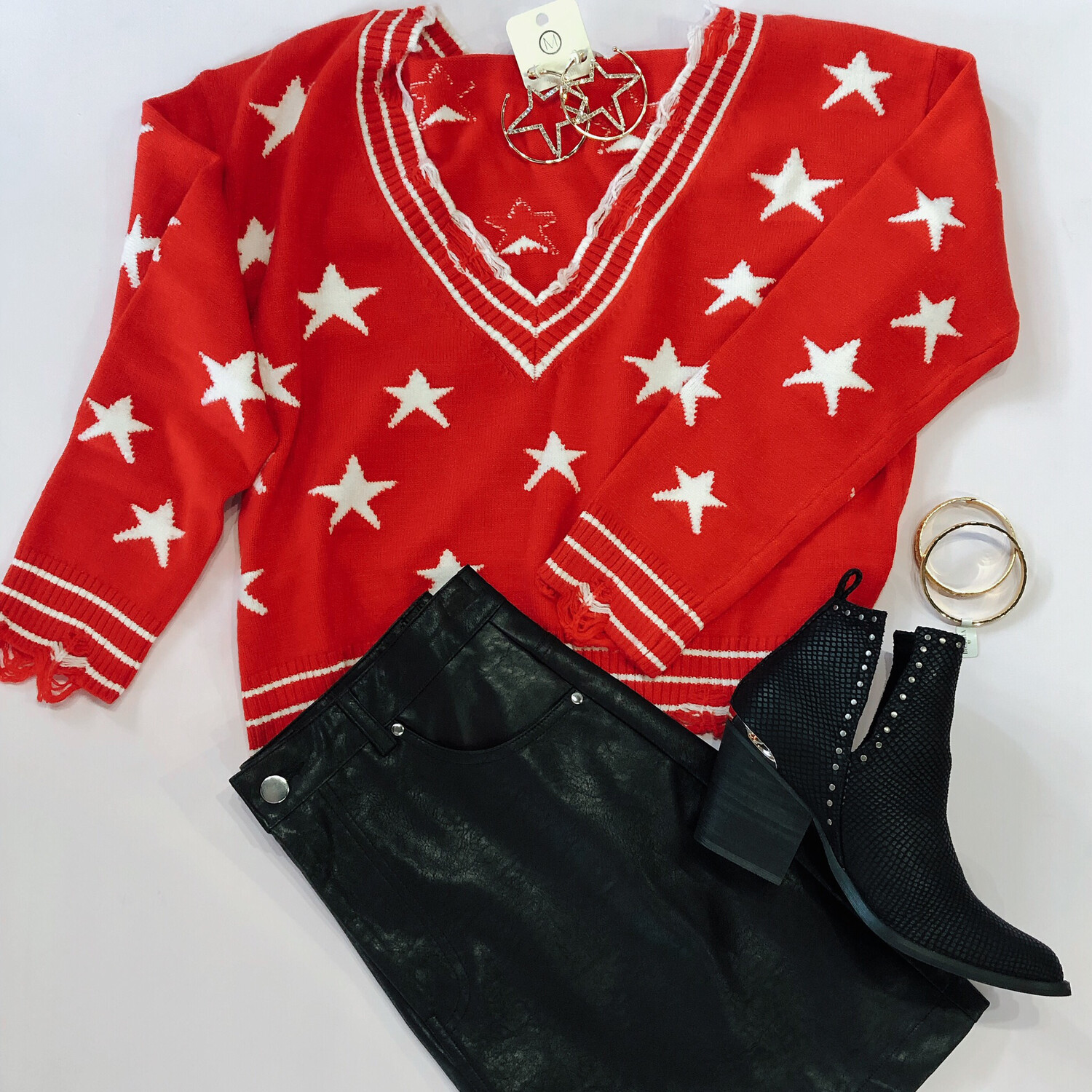 Wild Honey Varsity Star Sweater