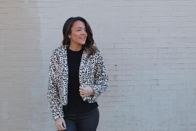 Cropped Leopard Fur