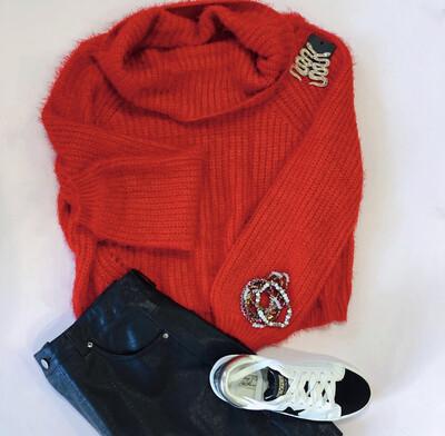 Cherry Red Sweater