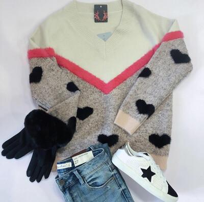Multi Heart Sweater