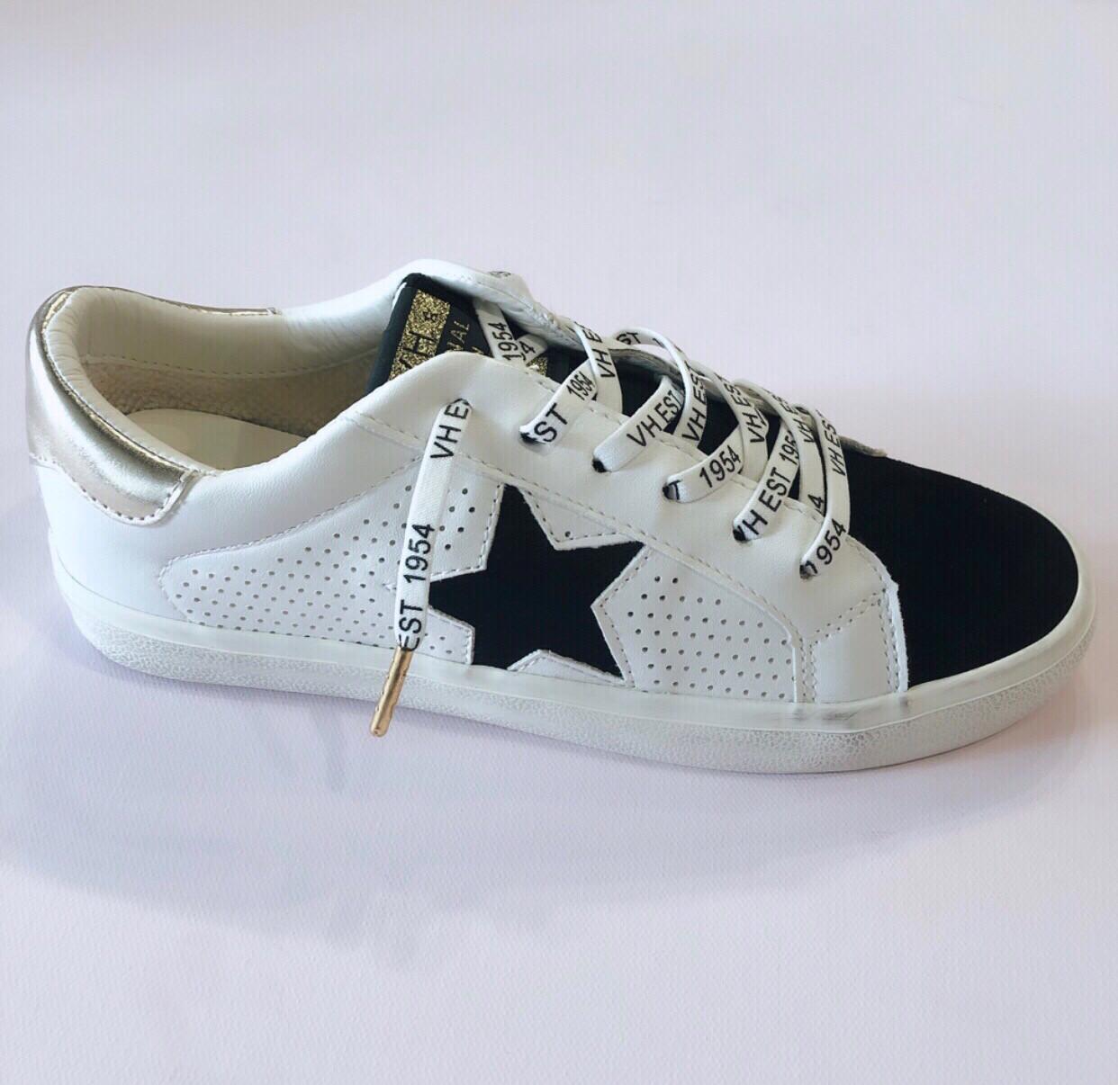Black & White Star Sneakers