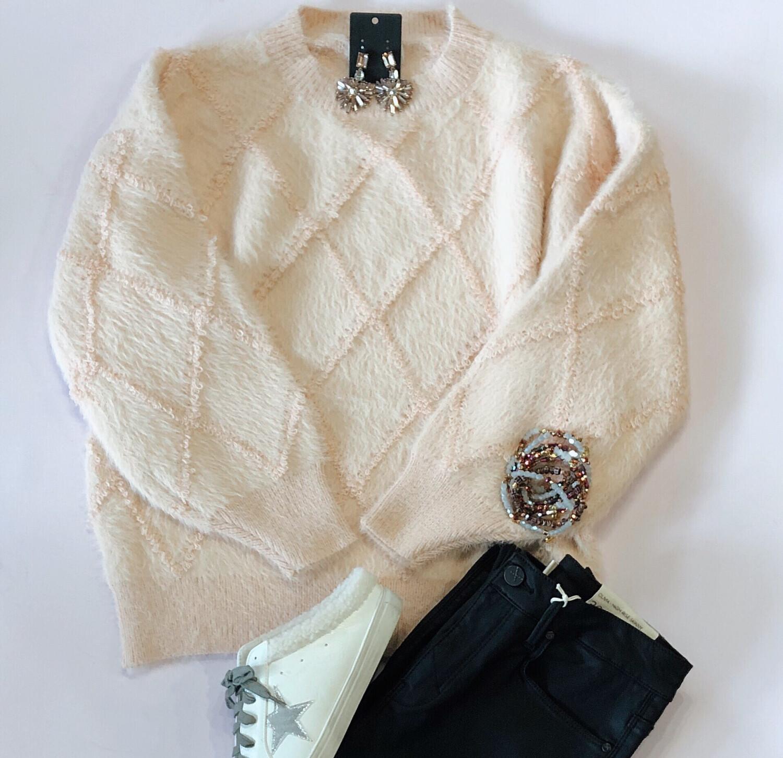 Pretty In Peach Sweater