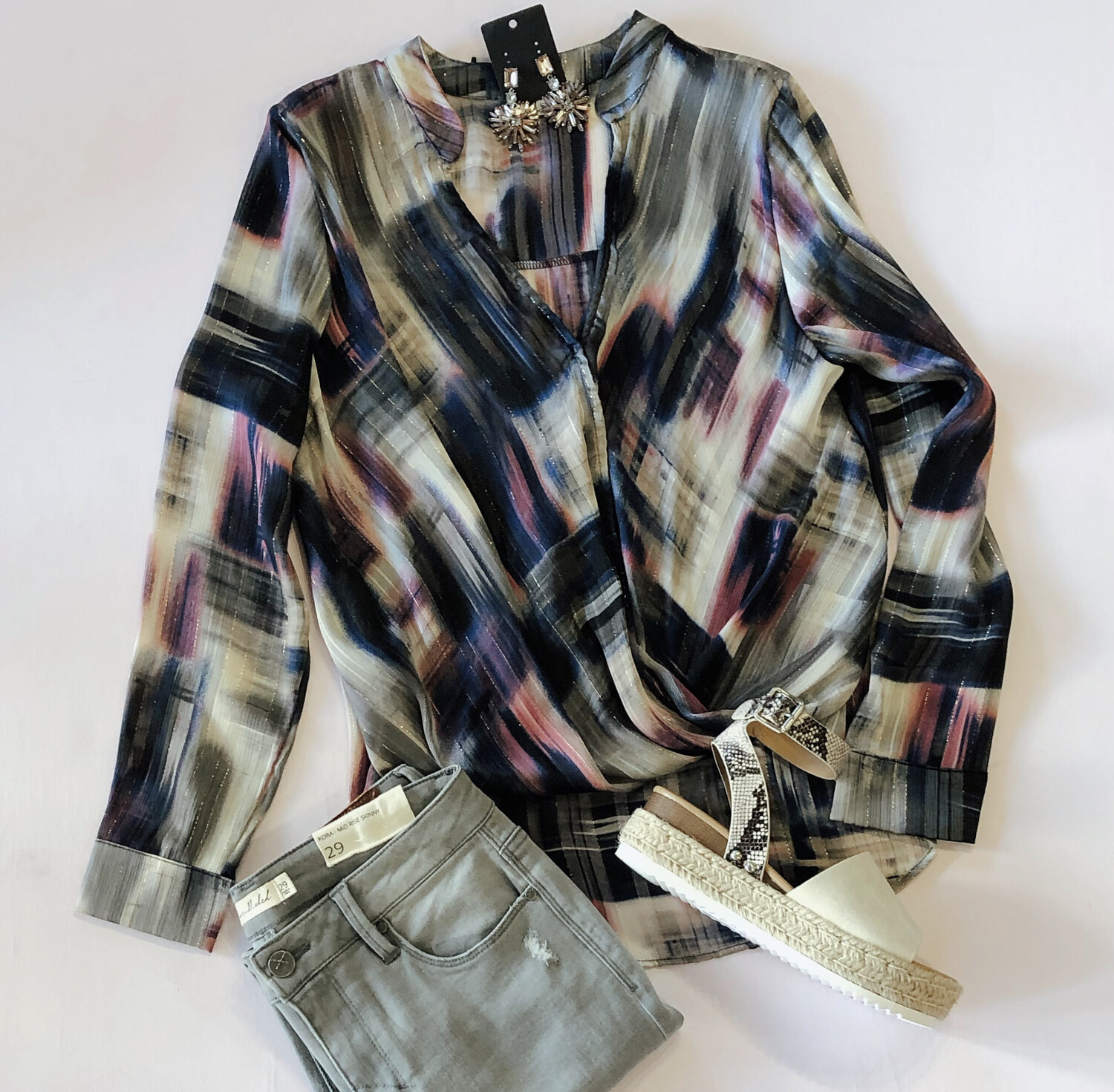 Abstract Printed Blouse