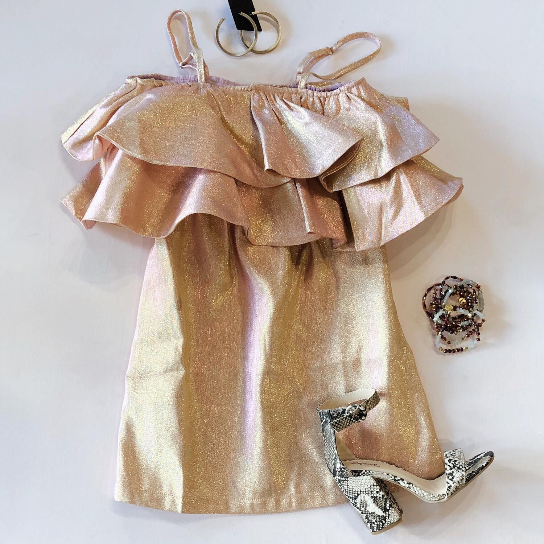 Rose Shimmer Dress