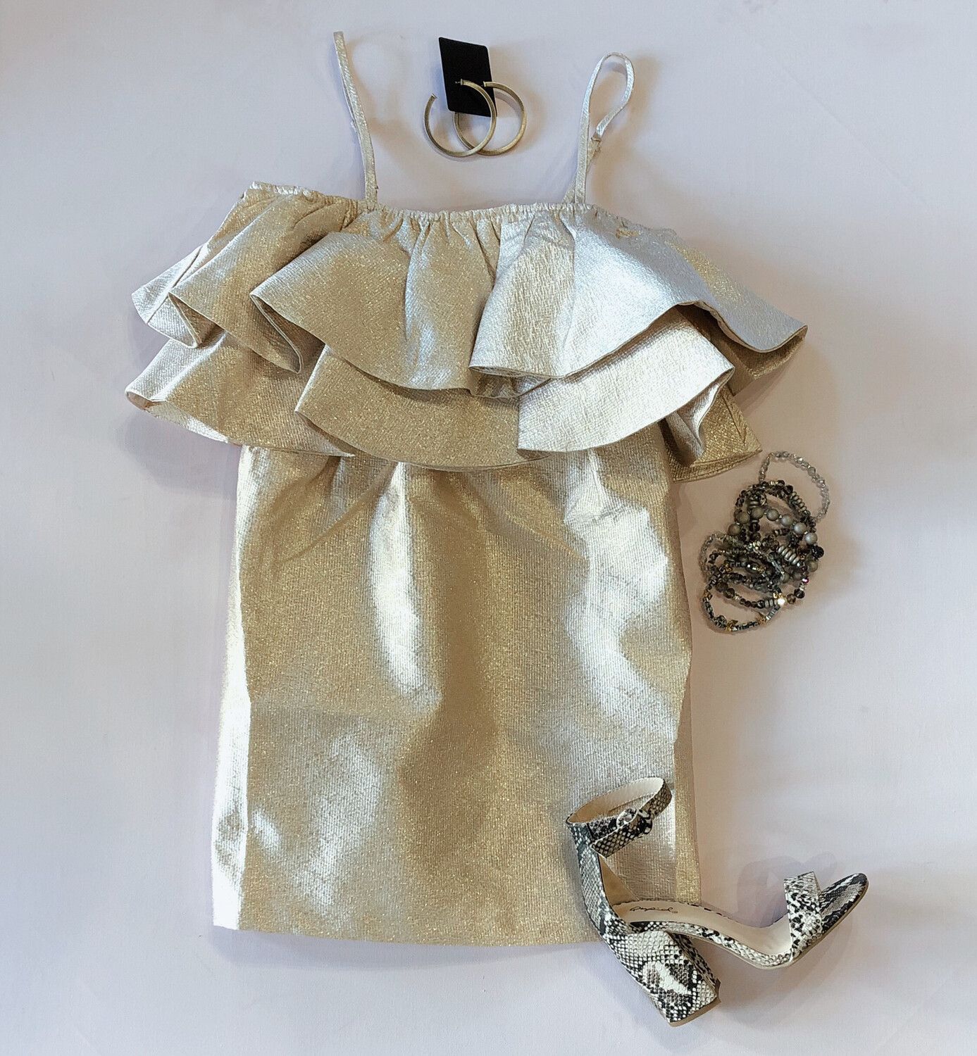 Buddy Love Champagne Shimmer Dress