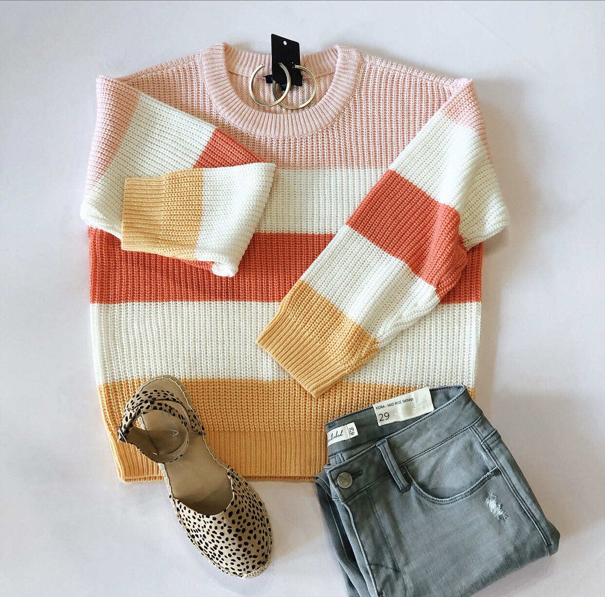 Colored Striped Sweater