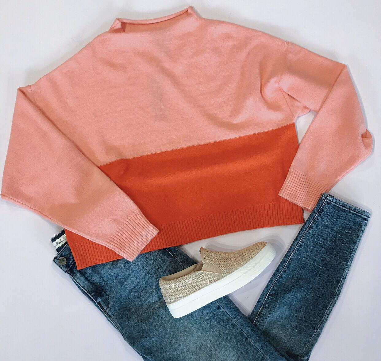 Valentine Colorblock Sweater