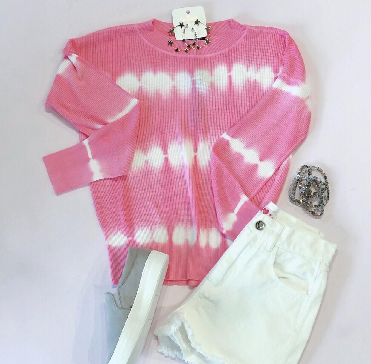 Tie Dye Spring Sweater