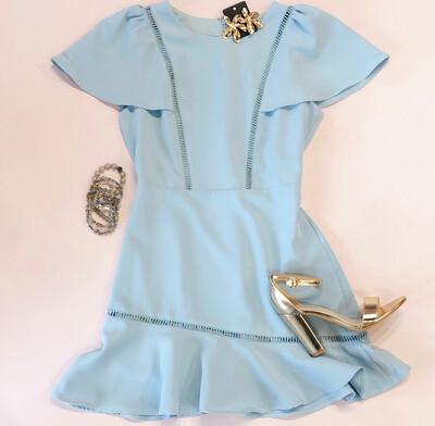 Baby Blue Flutter Dress