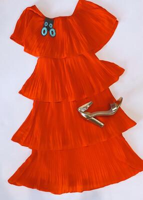 Tomato Midi Dress