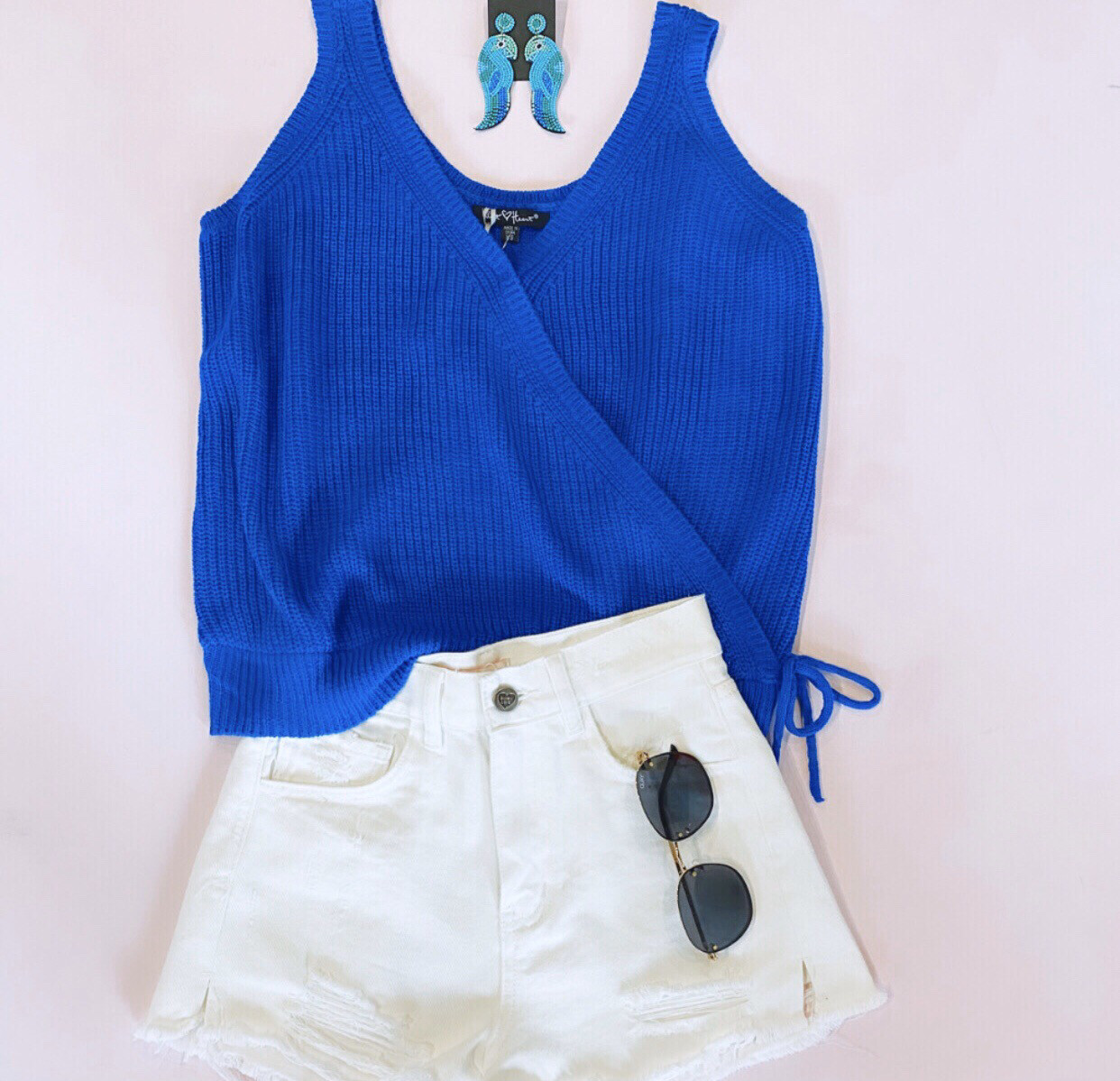 Cobalt Sweater Tank