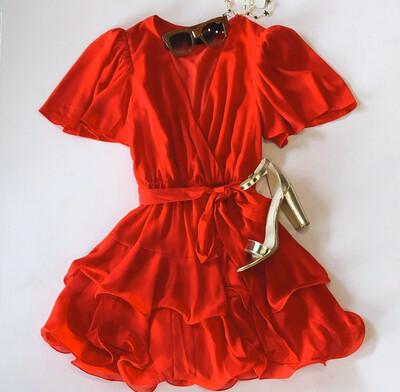 Tomato Cha-cha Dress