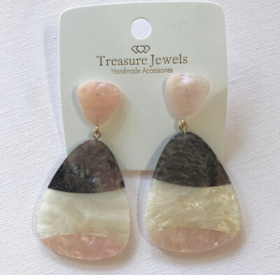 Acrylic Colorblock Earring