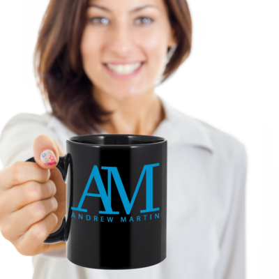 Online Exclusive AM Logo Black 11 oz Mug