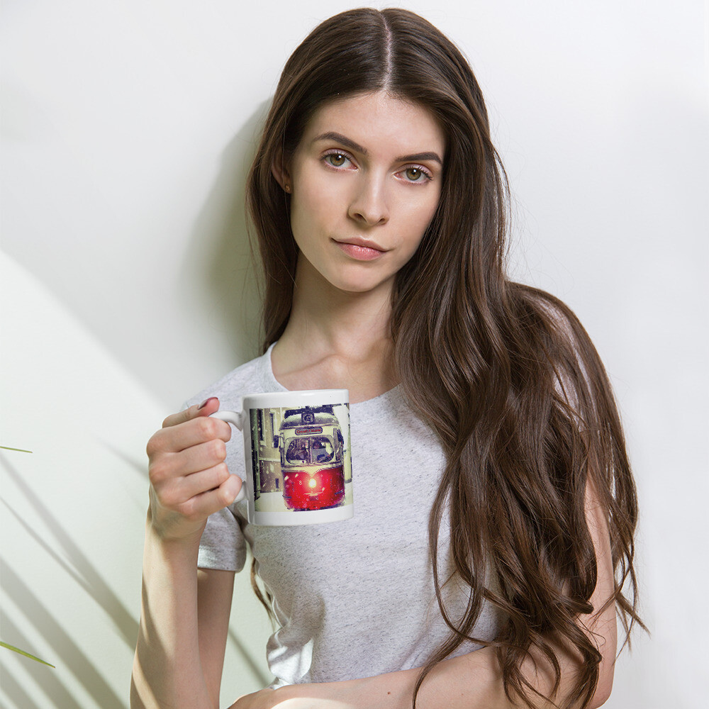 Online Exclusive Crooner's Christmas Trolly 11 oz Mug