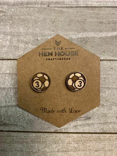 Customizable Soccer Earrings