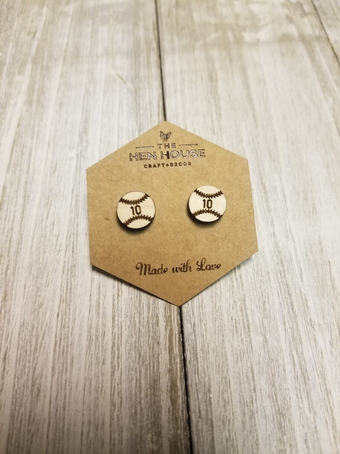 Customizable Baseball Earrings