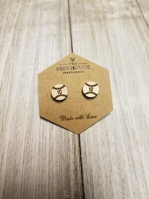 Customizable Baseball Earrings