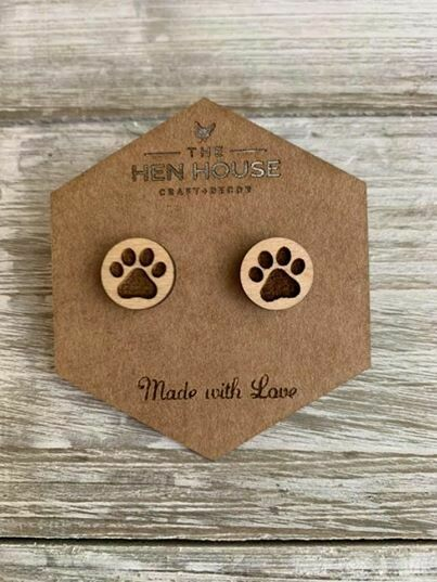 Puppy Paw Print Earrings