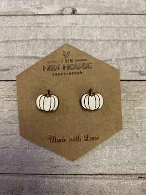 Pumpkin Stud Earrings