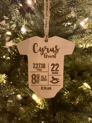 Customized Baby Ornament