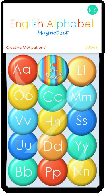 English Alphabet Magnet Set