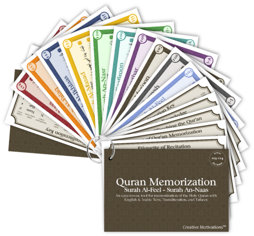 Quran Memorization Card Set