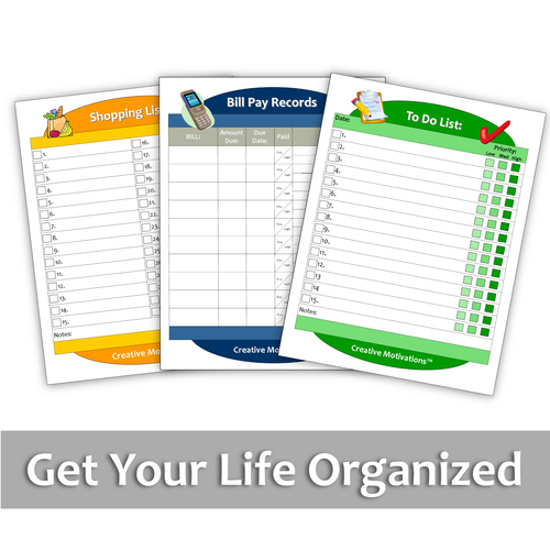 "3pc ""Get Organized"" Chart Set - Standard"